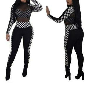 Checker Board Jumpsuit